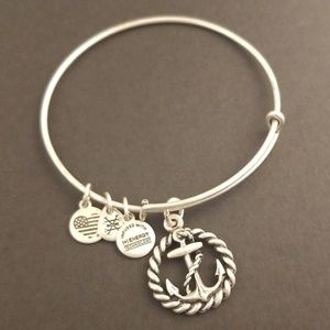 Alex and Ani Silver Tone Nautical Anchor Bracelet